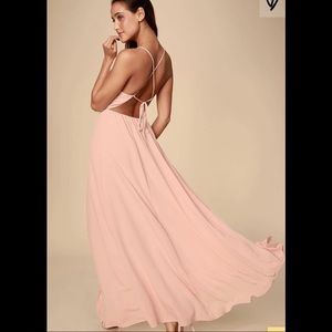Lulu's Everything's All Bright Pink Maxi Dress